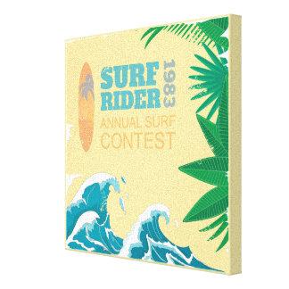 Tävling |1983 för surfaryttaresurfa canvastryck