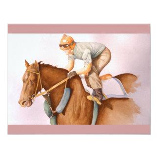 Tävlinghäst- och Jockeyvattenfärg 10,8 X 14 Cm Inbjudningskort
