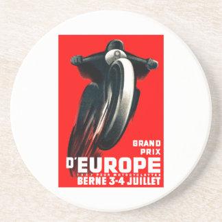 Tävlings- affisch 1939 för europégrand underlägg
