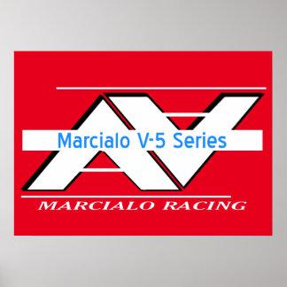Tävlings- affisch för Marcialo V-5 serie Poster