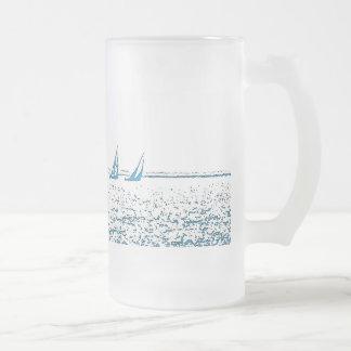 Tävlings- mugg för segelbåtar