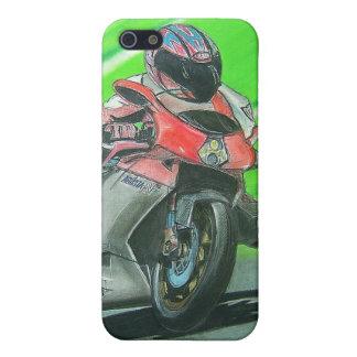 Tävlings- themed iphone case för motorcykel iPhone 5 fodral