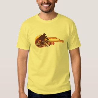 tävlings- vintageoldschool för 70-tal BMX T-shirt