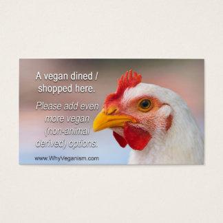 """TAVS """"en äten middag vegan/shoppade här"""" kort"""