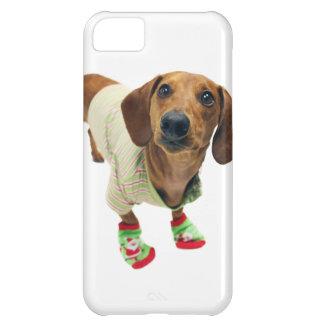 Tax - god jul - gullig hund iPhone 5C fodral