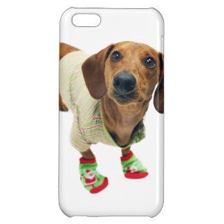 Tax - god jul - gullig hund iPhone 5C skal