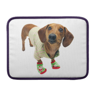Tax - god jul - gullig hund MacBook sleeve