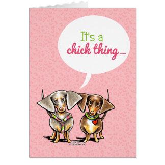 Taxen är det en inbjudan för chicksakflickor hälsningskort
