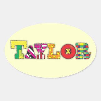 Taylor Ovalt Klistermärke