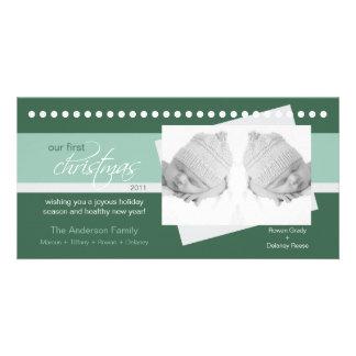 {TBA} 1st jul Photocard (grönt 2) för twillingar Foto Kort
