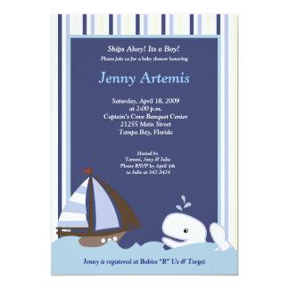 {TBA} Ahoy nautisk baby shower för mattt 12,7 X 17,8 Cm Inbjudningskort