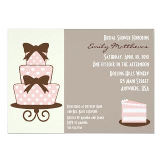 {TBA} Chic rosa- & bruntinbjudan 12,7 X 17,8 Cm Inbjudningskort