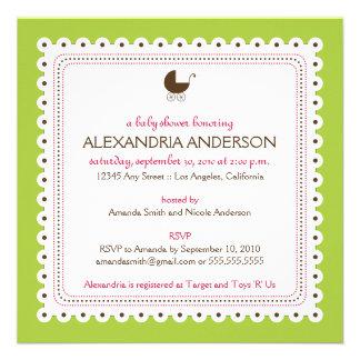 TBA Dyrbar beställnings- baby showerinbjudan för