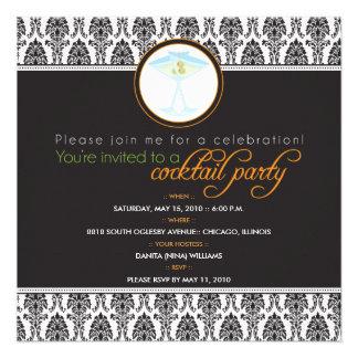 {TBA} Elegant damastast cocktailpartyinbjudan Unika Inbjudningar
