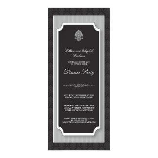 {TBA} Elegant damastast middagpartyinbjudan Anpassade Inbjudningskort