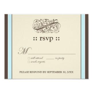 """{TBA} Enkelt"""" kort för svar elegant 4.25x5.5 10,8 X 14 Cm Inbjudningskort"""
