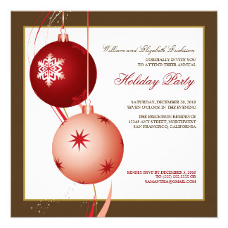 TBA Festlig julfestinbjudan bruntet