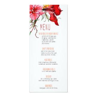 :: TBA:: Flora Botanica blommar bröllopmenyn 10,2 X 23,5 Cm Inbjudningskort