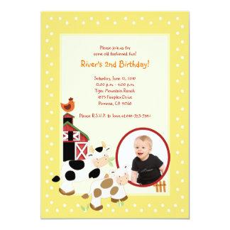 {TBA} Födelsedag för *PHOTO* för Barnyard för 12,7 X 17,8 Cm Inbjudningskort