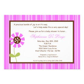 {TBA} för blommababy shower för våren 5x7 inbjudan