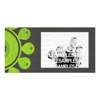 [TBA] Grafisk limefruktblommar Hälsningskort Med Foto