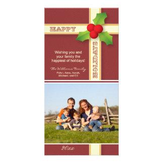 {TBA} Helgdag Photocard för julgåvafamilj Anpassingsbara Fotokort