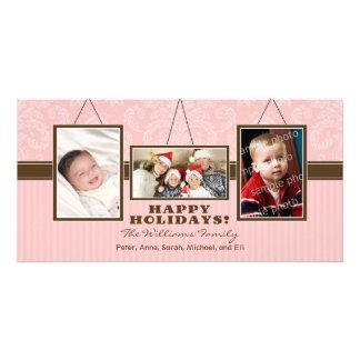 {TBA} Helgdag Photocard (rosor) för väggramarfamil Foto Kort