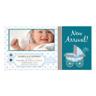 {TBA} Hospital ID Tag Baby Birth Announcement Custom Photo Card