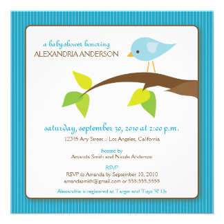 {TBA} Inbjudan för TweetTweetbaby shower (aqua)