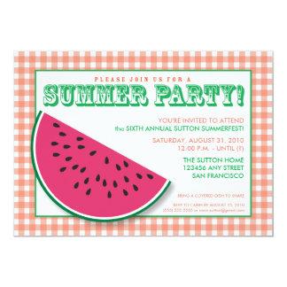 {TBA} Inbjudan för vattenmelonsommar Cookout/BBQ 12,7 X 17,8 Cm Inbjudningskort