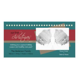 {TBA} Julhelgdag Photocard (krickan) för twillinga Skräddarsydda Fotokort