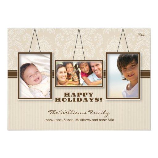 {TBA} Kort för helgdag för familj för väggramar be Individuella Inbjudningskort