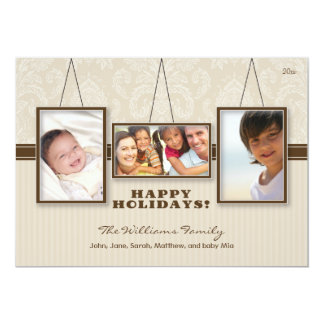 {TBA} Kort för helgdag för familj för väggramar Individuella Inbjudningskort