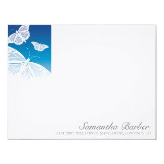 TBA:  Kort för vitfjärilsöverensstämmelse 10,8 X 14 Cm Inbjudningskort