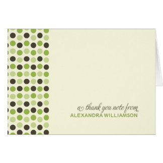 {TBA} Moderiktigt polka dotstackkort (äpplet) Hälsningskort