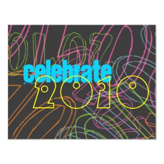 [TBA] Nytt års partyinbjudan 10,8 X 14 Cm Inbjudningskort