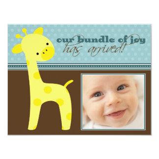 {TBA} Packe av meddelandet för glädjegirafffödelse 10,8 X 14 Cm Inbjudningskort