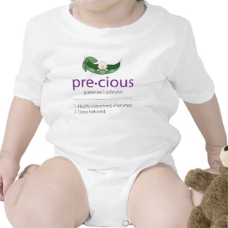 """{TBA} Purpurfärgad """"dyrbar"""" Ärta-i-en-Pod Body För Baby"""