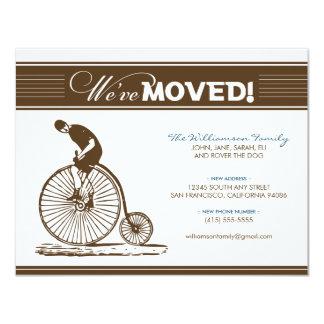 {TBA} Röra meddelande för antik cykel (bruntet) 10,8 X 14 Cm Inbjudningskort