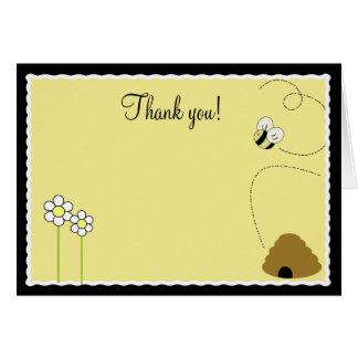 {TBA} Vikt tackkort för bi lycklig humla Hälsnings Kort