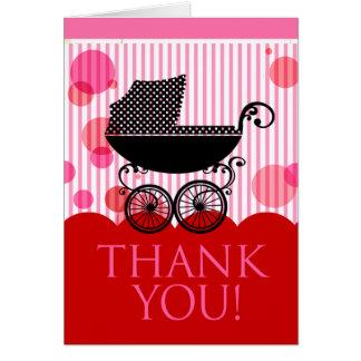 :: Tba-vinnare:: Barnvagntack (röd rosa) Hälsningskort