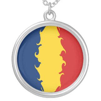 Tchad Gnarly flagga Halsband Med Rund Hängsmycke