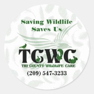 TCWC - Logotypbesparingdjurlivet sparar oss Runt Klistermärke