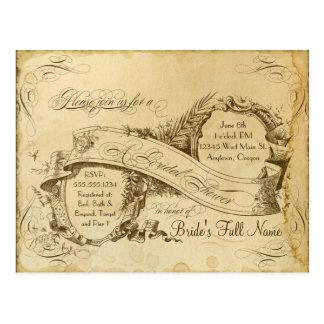 Tea befläckt vintage bröllop 1 - möhippa vykort
