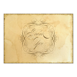 Tea befläckt vintage bröllop 1 - tackkort 12,7 x 17,8 cm inbjudningskort