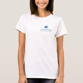 Tea för offentligt massmedia för värld kvinnlig tröja
