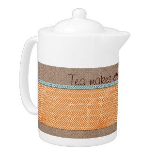 Tea gör allt den bättre tekannaTeakrukan