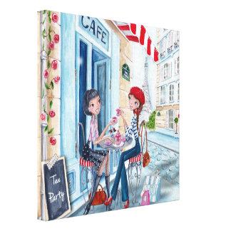Tea i Paris - kanfas Canvastryck