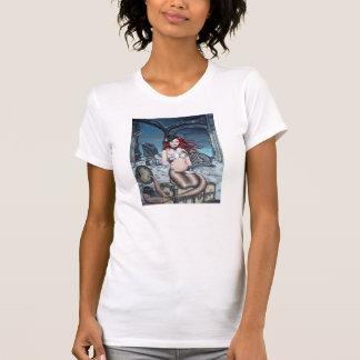 Tea i t-skjortan för Parloursteampunksjöjungfru Tee Shirts