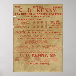 Tea- och kaffeannons 1943 poster